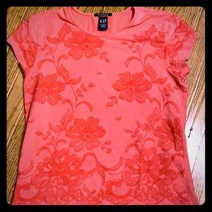 Gap stretch coral shirt